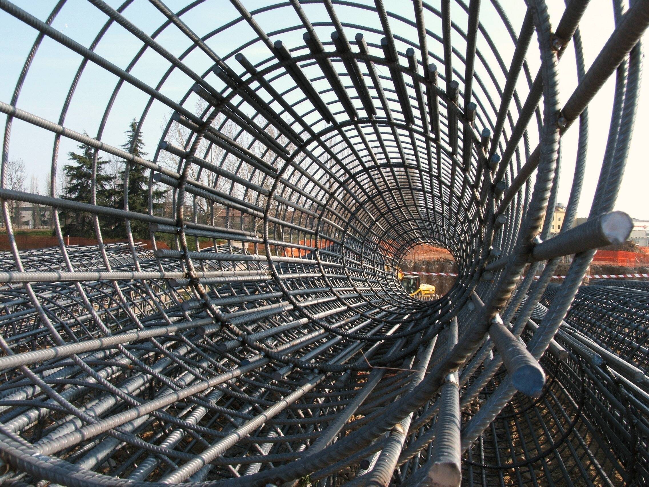 Galvanized welded rebar concrete mesh sheets.